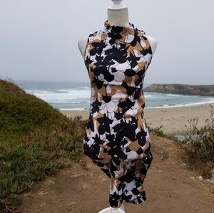 Diane von Furstenberg Silk Blend Floral Midi Dress